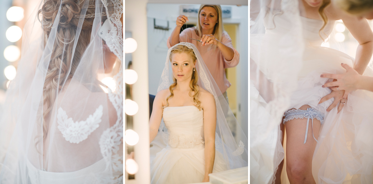 bride getting redy