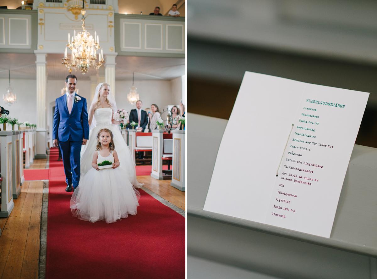 kyrklig vigsel bröllopsfotograf