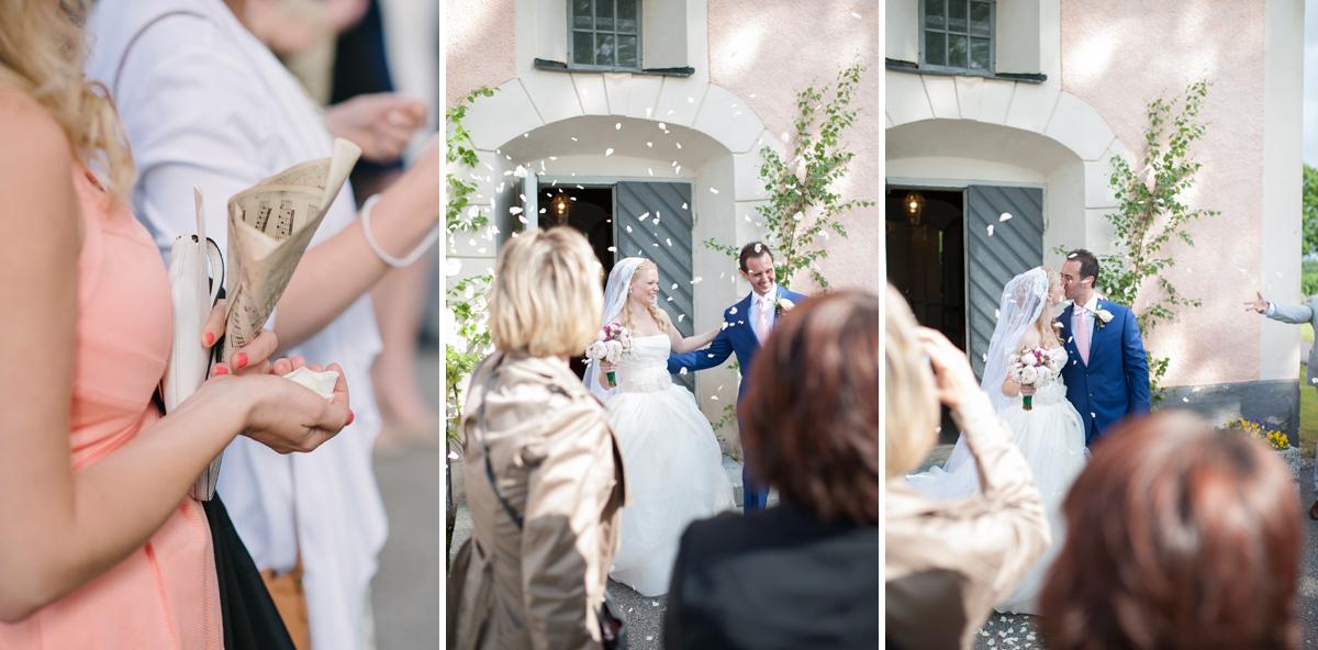 bröllop rosblad ris