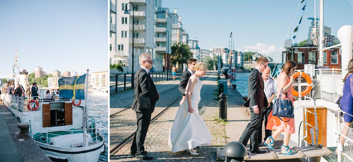 båt bröllop