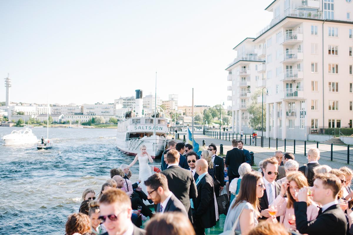 båtfärd bröllop stockholm