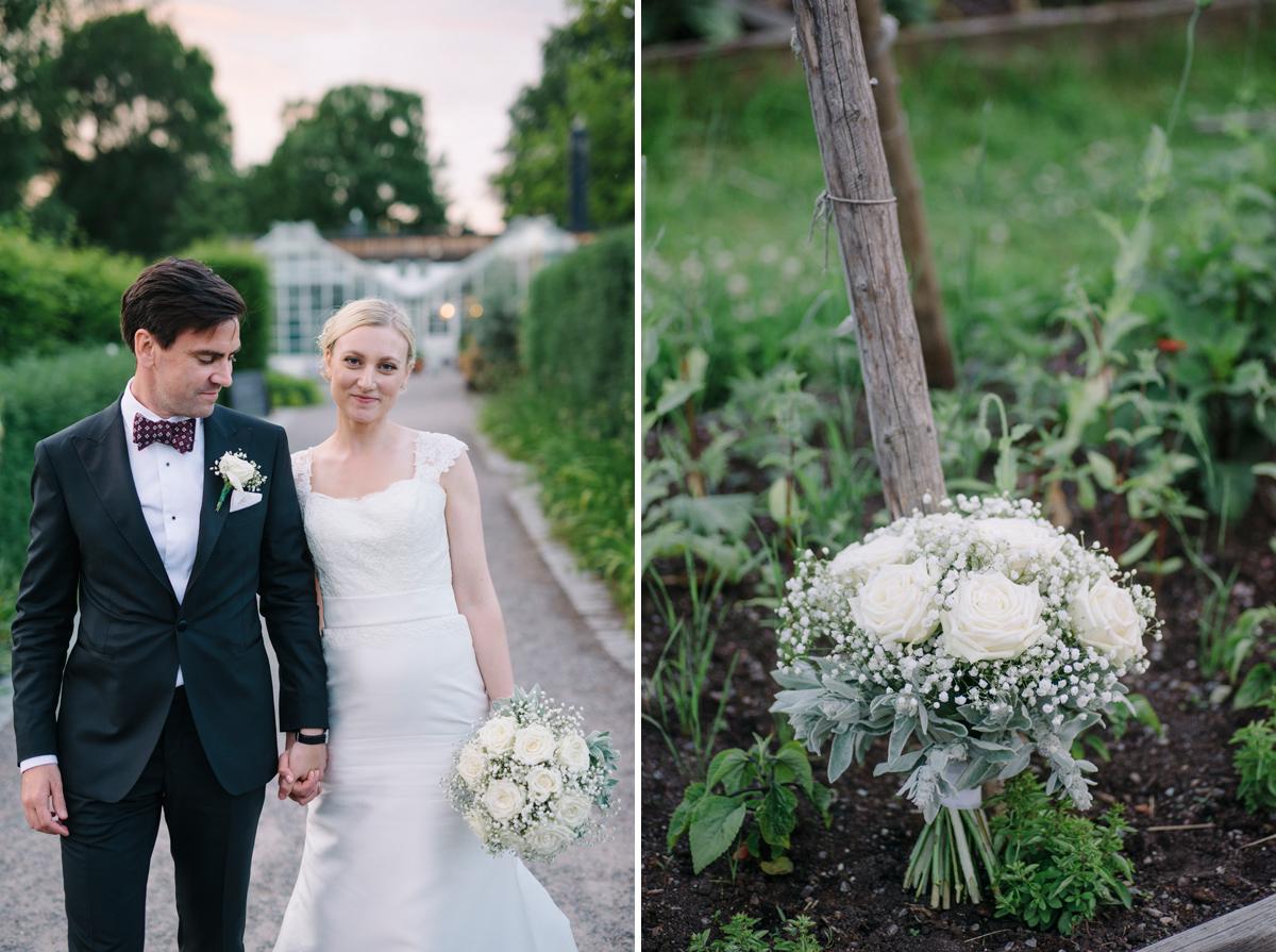 lantligt bröllop tema