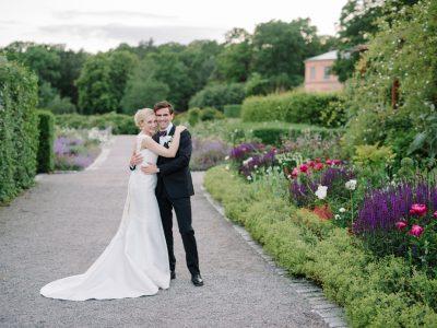 En bröllopsfotograf på Rosendal i Stockholm