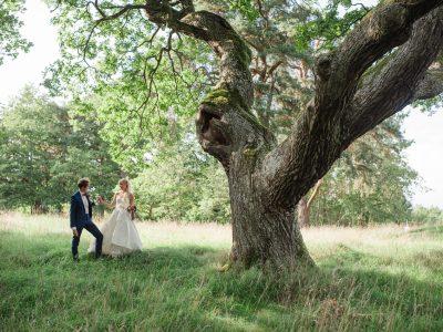 Ett trädgårdsbröllop på Rosendals trädgård