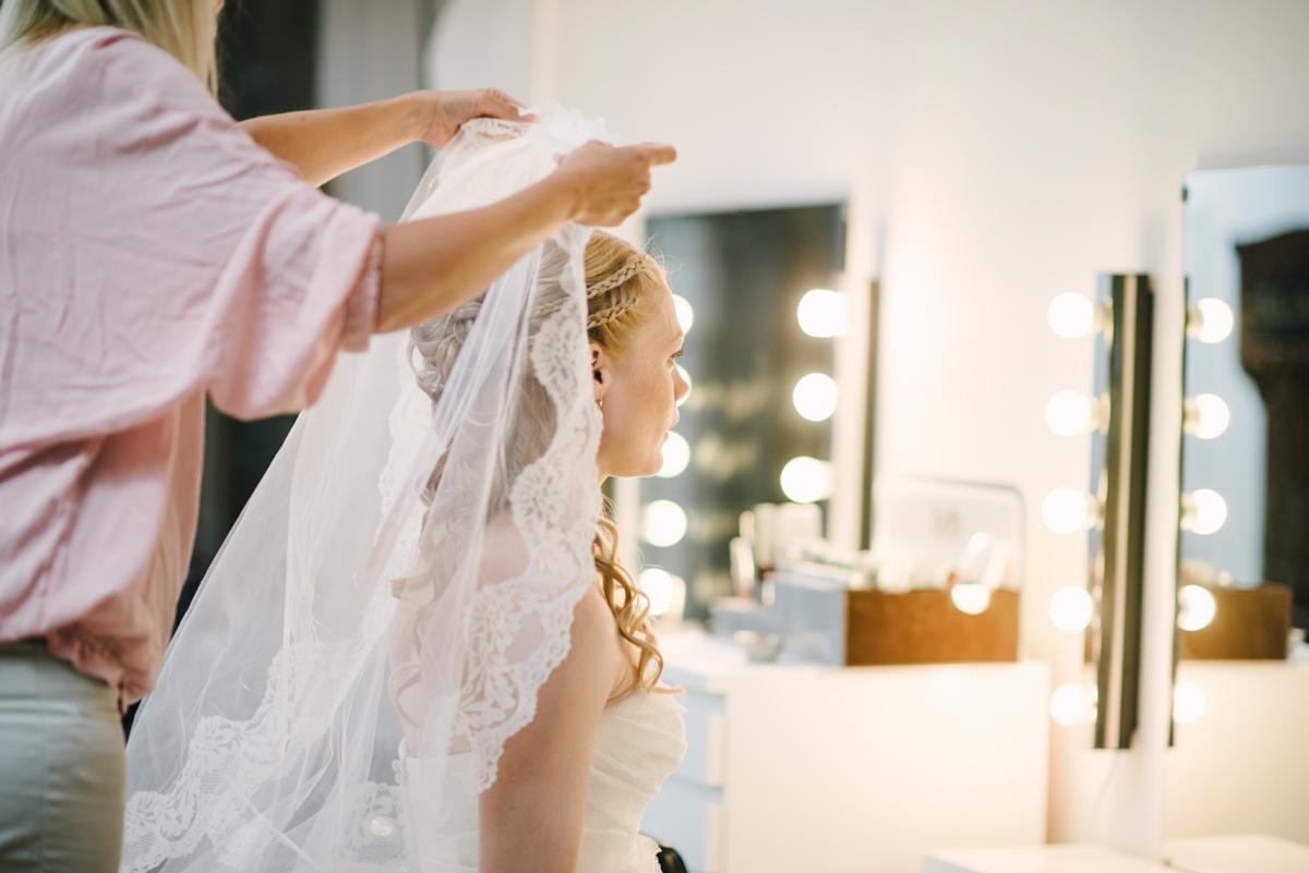 bröllop slöja