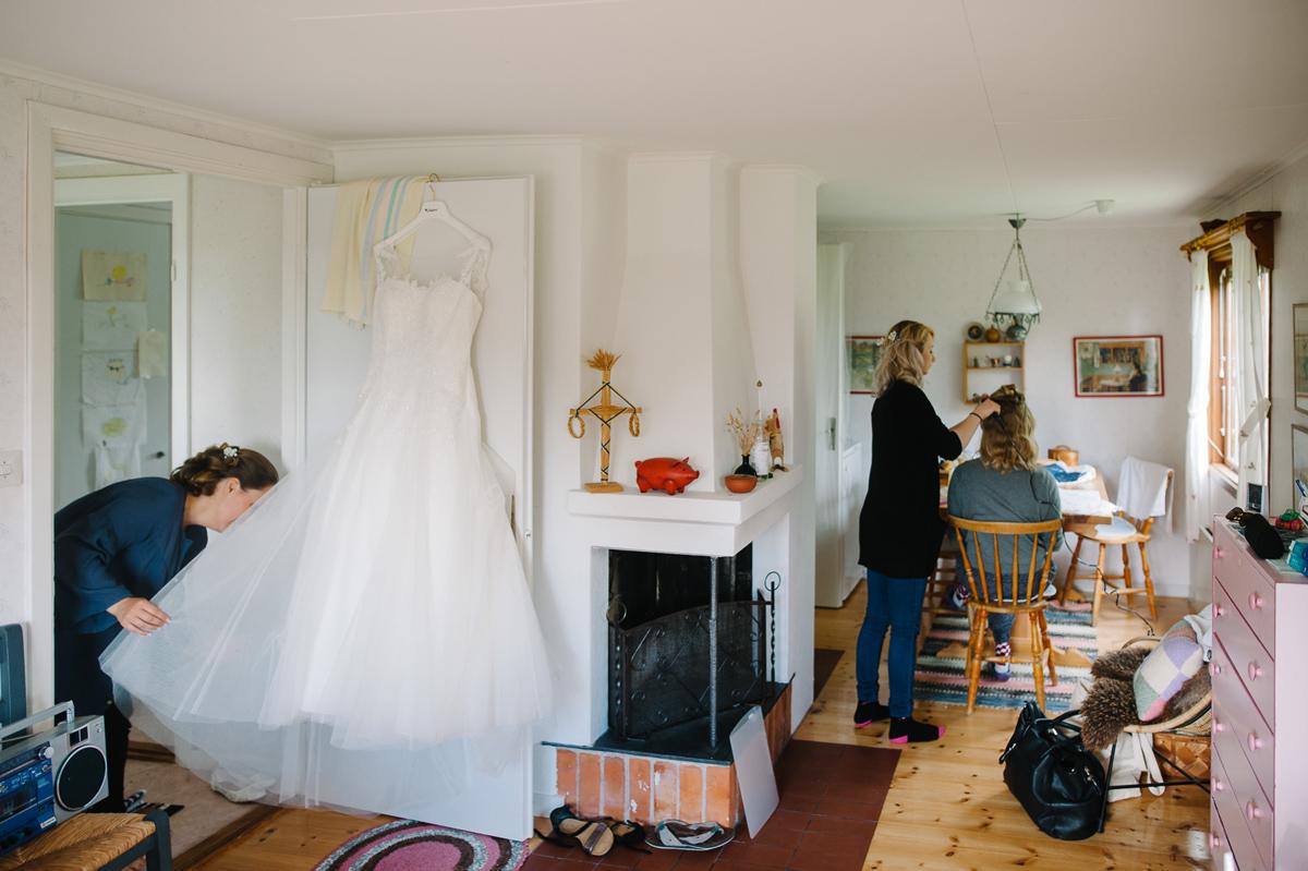 bröllopsklännning
