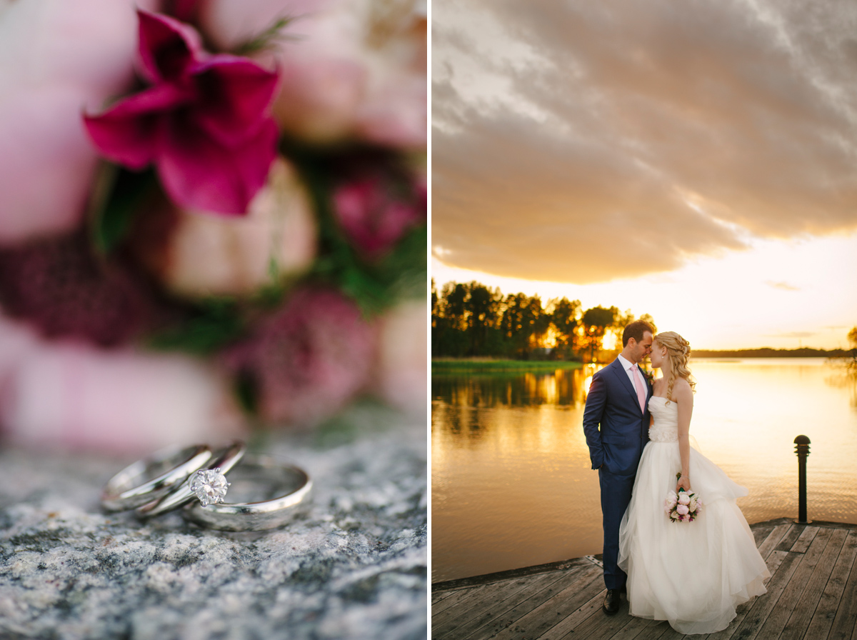 wedding photo sunset