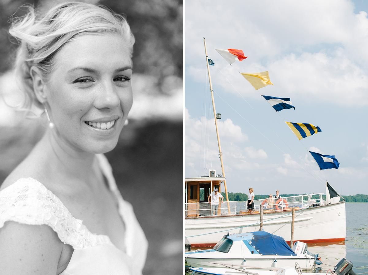 bröllop båt