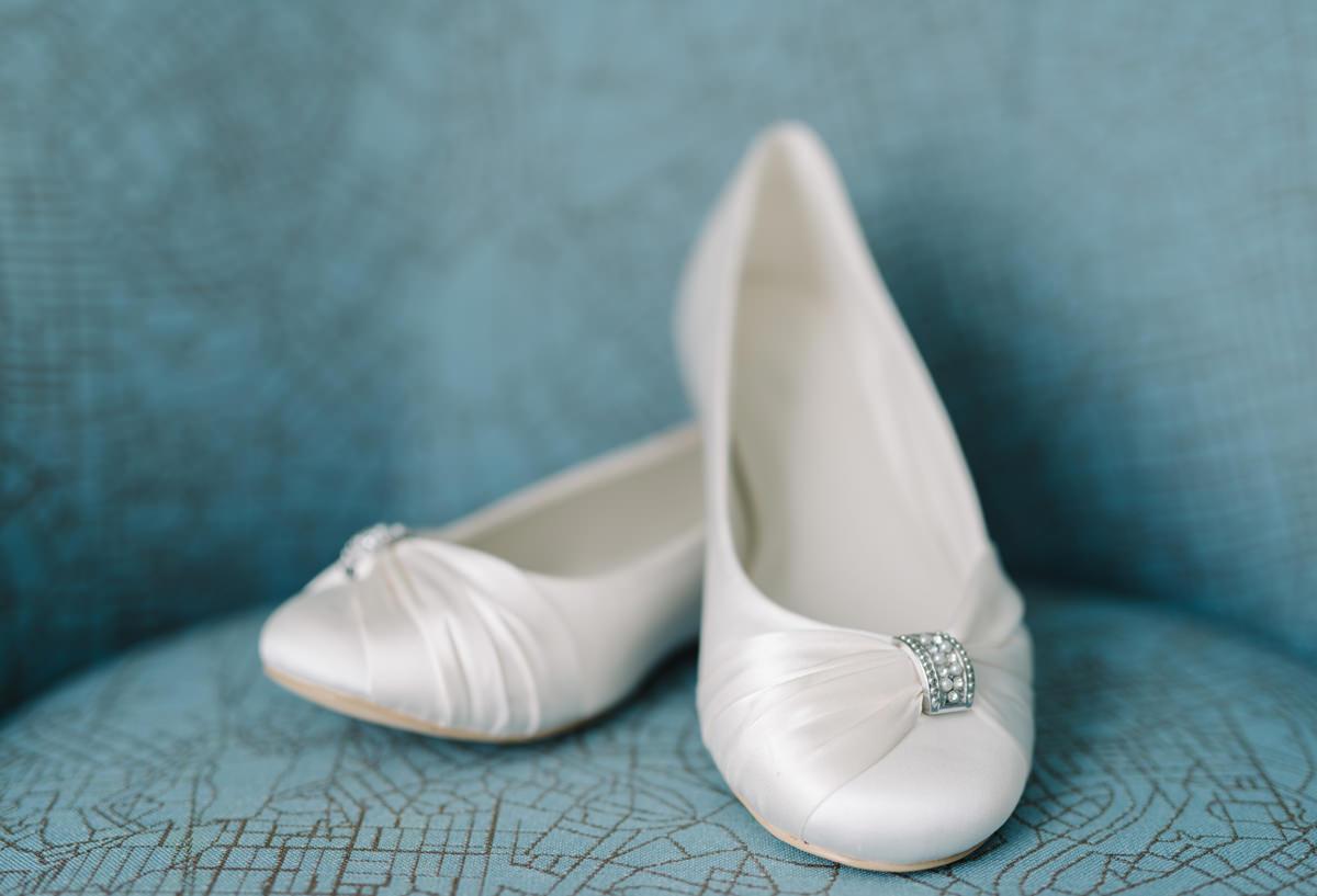 låga bröllopsskor