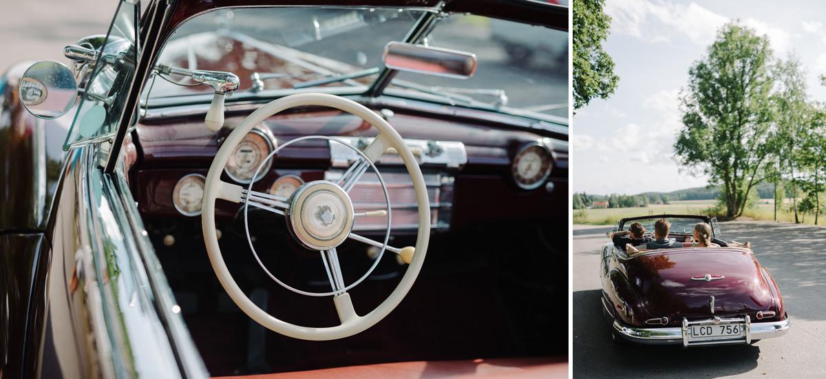 Vintage bröllopsbil